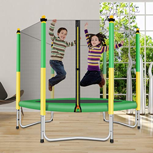 Fashionsport OUTFITTERS Trampoline with Safety Enclosure -Indoor or Outdoor Trampoline for Kids-Yellow/Green-5 feet by Fashionsport OUTFITTERS (Image #2)