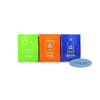 Bolsas de reciclaje con base interior (3 cubos + 3 bases ...