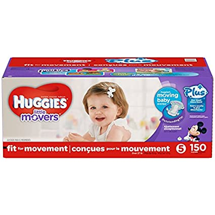 Huggies Little Movers Plus - Pañales (tamaño 5, 150 unidades)