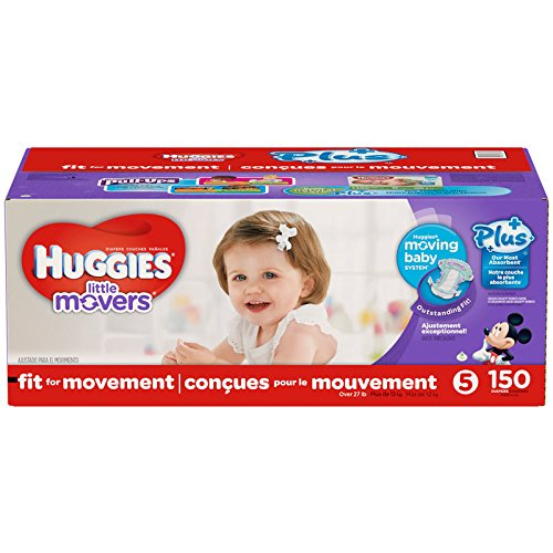 Huggies Little Movers Plus Size 5, 150 Pack