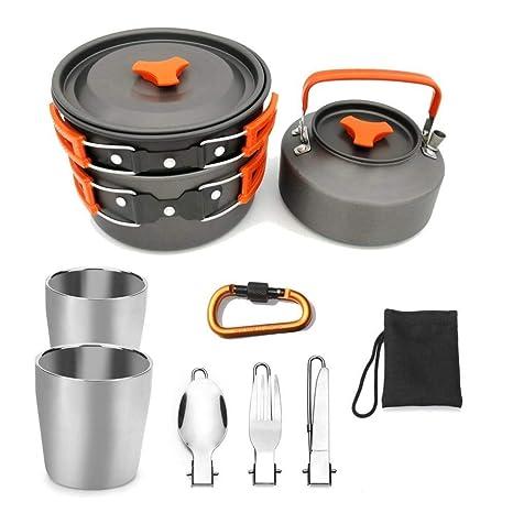 Amazon.com: Juego de cocina para exteriores, de camping y de ...