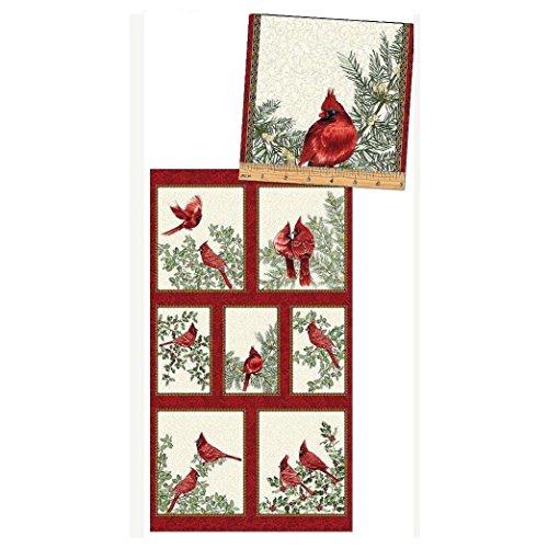 A Festive Season Cardinal Creme Panel 23