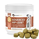 PointPet Advanced Hip and Joint Supplement for Dogs, All-Natural Glucosamine Chondroitin with Organic