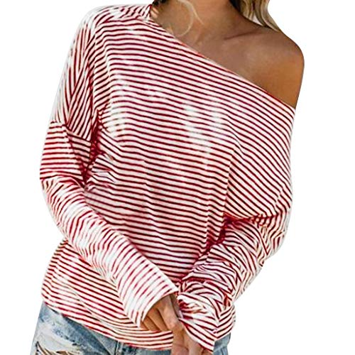 Women's Cold Shoulder Long Sleeve T Shirt Fall Casual Loose Tops Pullover Fall Blouses T Shirt Sweatshirt ()