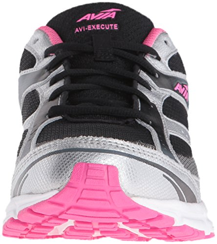 Execute AVIA Black Womens Silver Steel Running Energy Chrome Grey Avi Pink Shoe 474qUEn