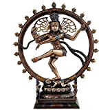 Collectible India Nataraja Shiva Idol Sculpture Handmade Antique Dancing Nataraj Pratima Statue Home Decor Figurine