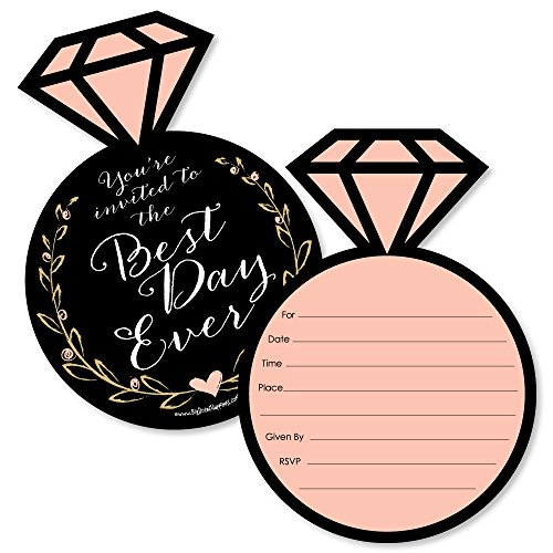 - Best Day Ever - Shaped Fill-In Invitations - Bridal Shower Invitation Cards with Envelopes - Set of 12