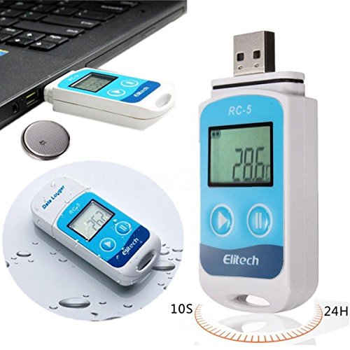 Adaptor Steam Trap (Mini USB Temperature Data Logger Datalogger Recorder Internal Sensor Waterproof)