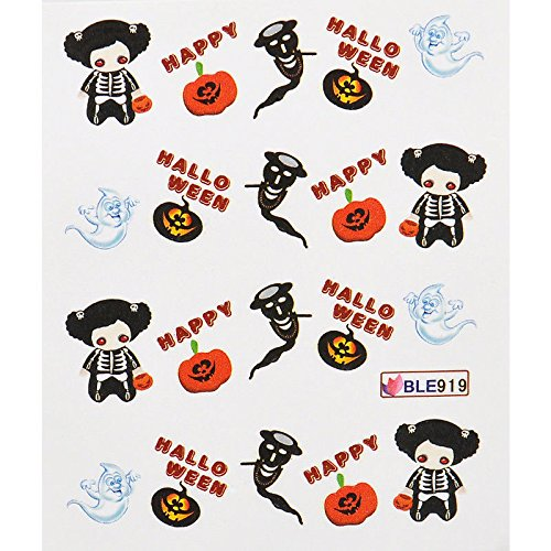 Baba Halloween Nail Art Transfer Decals Stickers Witch