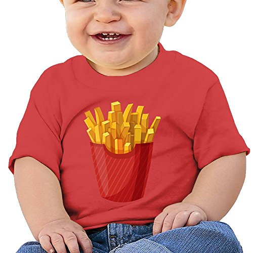 Fry Costume Jacket (French Fries 6 - 24 Months Baby T-shirts Round Neck Shirt 24 Months)