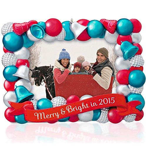 Merry & Bright Photo Holder Ornament 2015 (Hallmark Photo Holder)