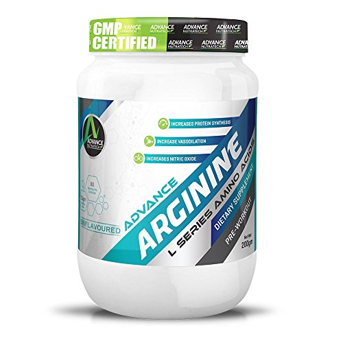 Arginine Aminos Pre-workout 200gm unflavoured Raw Powder by ADVANCE NUTRATECH