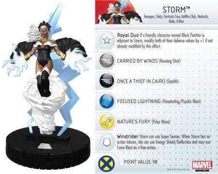 Wizkids Heroclix Marvel 10th Anniversary #20 Storm Figure with Card