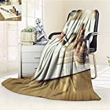 UHOO2018 Luminous Microfiber Throw Blanket Saving Stack Coins Money Concept Graph Chart Document and Pen on Desktop Desk Glow in The Dark Constellation Blanket, Soft and Durable Polyester(60''x 50'')