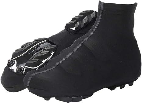 VORCOOL Ciclismo Cubre Zapatos Ciclismo Impermeable Zapatilla Cubre Zapatillas Protectoras de Invierno térmica Zapata para Deportes al Aire Libre Cubierta (Negro, L): Amazon.es: Deportes y aire libre