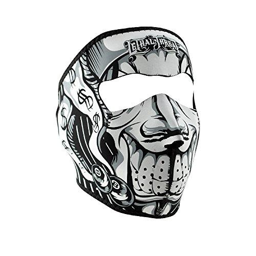 Zanheadgear Neoprene Lethal Threat Jester Face Mask (Jester Skeleton)
