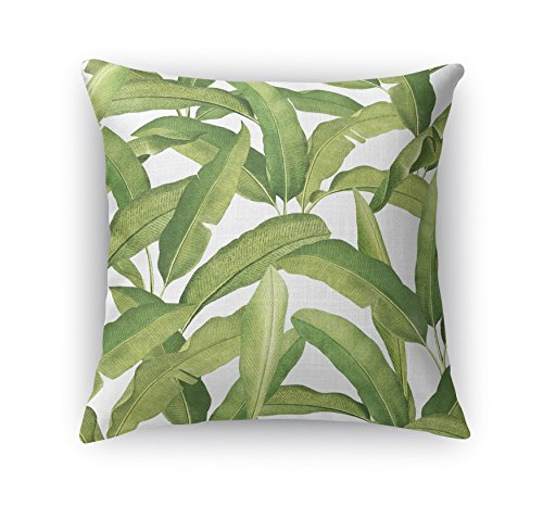 KAVKA Designs Banana Leaves Accent Pillow, (Green) - CABANA Collection, Size: 16X16X6 - (MGTAVC2040DI16)