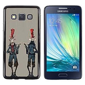 Shell-Star Arte & diseño plástico duro Fundas Cover Cubre Hard Case Cover para Samsung Galaxy A3 / SM-A300 ( Alien Cartoon Man Character Zombie Art )