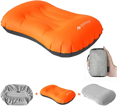 Camping Pillow Ultralight Inflatable Pillow for Neck Lumber Support Backpacking Inflatable Pillow Hiking 2 Pack Gray Ultralight Inflatable Pillow Washable Travel Air Pillows for Camping