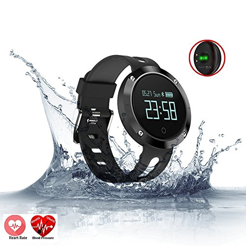 Relee Fitness Tracker Watch,Activity Tracker With Heart Rate Blood Oxygen Pressure Monitor Samrt Watch IP67 Waterproof for Kids Wristband Watch for IOS Iphone Android (Black) by Relee