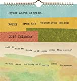 img - for Tyler Knott Gregson Poems from the Typewriter Series 2018 Wall Calendar book / textbook / text book