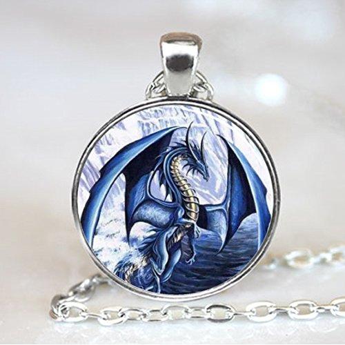 2pcs-1.5 silver tone Dragon charm pendant-silver tone dragon pendant
