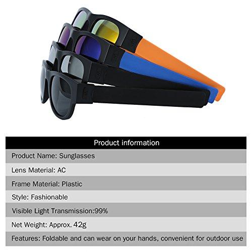 Gafas Sol Sol de Gafas Tipos 4 Gafas de Aire Plegables Libre 2 Conducción al Unisex para Ciclismo Plata Plegables qpXxHt