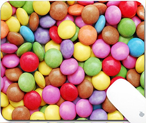 Luxlady Natural Rubber Gaming Mousepads colorful candy close