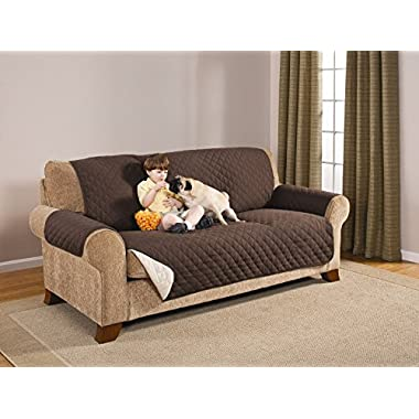 Deluxe Reversible Sofa Furniture Protector, Coffee / Tan 75  X 110