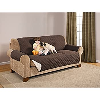 Amazoncom Deluxe Reversible Sofa Furniture Protector Coffee