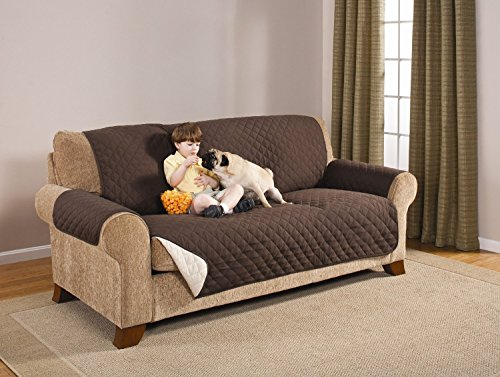 Deluxe Reversible Sofa Furniture Protector, Coffee / Tan 75