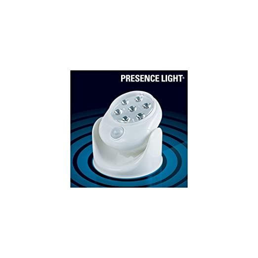 Bitblin Presence Light Lámpara con Sensor de Movimiento de Interior y Exterior, Blanco, 12 x 12 x 7 cm: Amazon.es: Iluminación