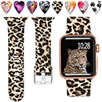 Laffav Compatible with Apple Watch Band 40mm 38mm iWatch SE & Series 6 & Series 5 4 3 2 1 for Women, Paw Print, M/L