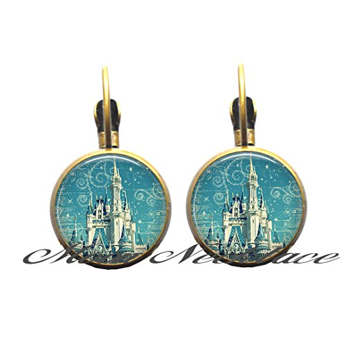 Charm Earrings,The Magic Kingdom Stud earrings, fairy tale castle Earrings, fairy tale Stud earrings, fairy tale Earrings, fairy tale - Hours Magic Kingdom
