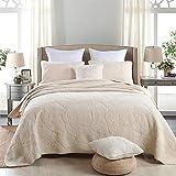 Palm Leaf Patchwork Cotton Bedspread Quilt Sets Fit Queen King Bed