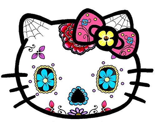 Hello Kitty Sugar Skull Sticker Decal