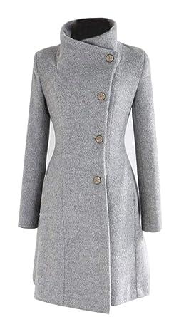 warmer wintermantel damen grau