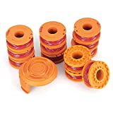 JuguHoovi Grass Trimmer Line, 10 ft 0.065'' Line String Trimmer Replacement Spool for Multiple Worx String Trimmers, 13 Pack (12 Replacement Line Spool,  1 Trimmer Cap)