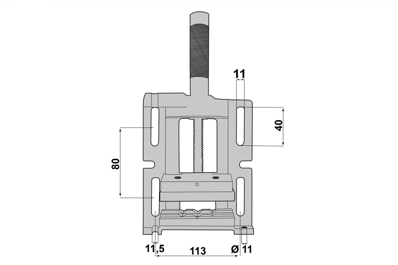 PAULIMOT Bohrmaschinen-Schraubstock 3-Weg 75 mm Backenbreite
