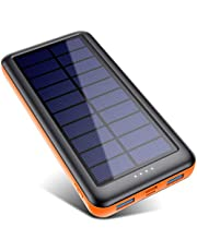 Solar Charger 26800mAh, Portable Charger Ultra High Capacity Solar Power Bank with Dual Output Type C input Extended Battery Charger High Speed Backup Battery Pack for iPhone 11 / XR / Samsung galaxy etc