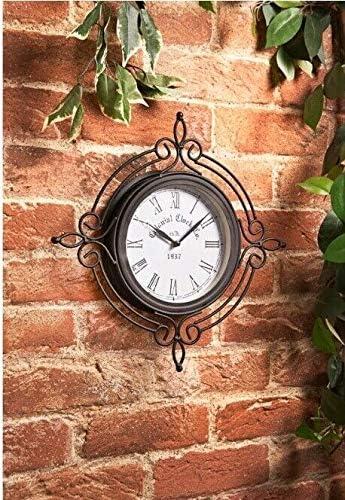 Caprican Reloj Decorativo de Pared para jardín o Exterior, diseño Retro, Resistente al Agua: Amazon.es: Jardín