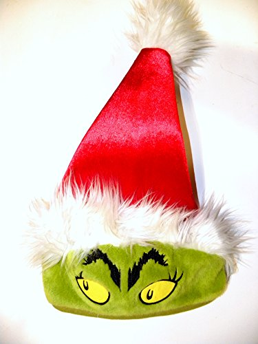 Universal Studios Theme Park Red Furry Grinch Christmas 2014 Santa Hat Dr. Suess - Max Costume Grinch