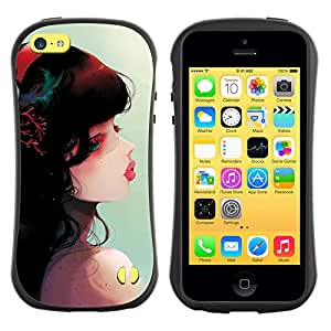 Pulsar iFace Series Tpu silicona Carcasa Funda Case para Apple iPhone 5C , Cute Fantasy Girl