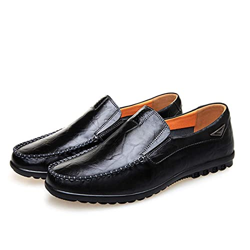 3b3e9c8d7d DHFUD Zapatos De Guisantes De Primavera Zapatos De Cuero De Los Hombres De  Fondo Suave Zapatos