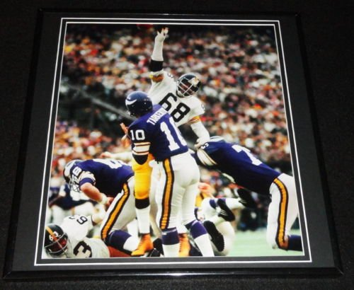 Fran Tarkenton LC Greenwood Super Bowl IX Framed 12x12 Poster Photo ()