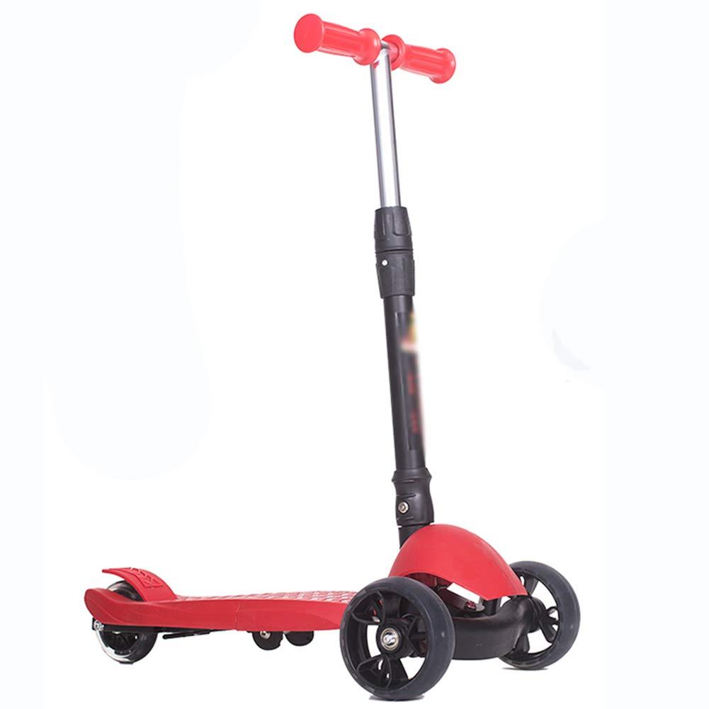 【お取り寄せ】 キックスクーター三輪車スケートボードペダル式乗用スタントスクーター折りたたみTバーハンドルLEDライトアップホイール付き調節可能な B07H99Y8V3 B07H99Y8V3 Red Red Red Red, オレンジスポーツ:787fe03f --- a0267596.xsph.ru