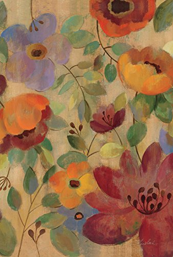 Toland Home Garden Oil Painted Poppies and Lilies 28 x 40 Inch Decorative Poppy Lily Flower House Flag