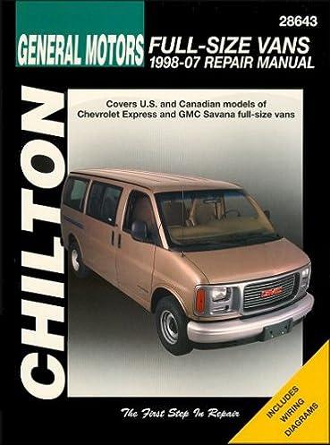 chevrolet express gmc savana full size van repair manual 1998 2007 rh amazon com