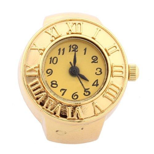 Gleader Reloj de Anillo Cuarzo Aleacion Dorado Numeros Romanos para Mujer Moda: Amazon.es: Relojes
