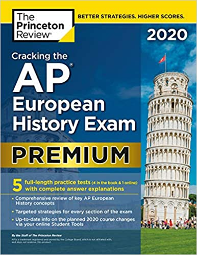 Best History Books 2020.Amazon Com Cracking The Ap European History Exam 2020